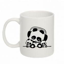 Кружка 320ml Панда в наушниках