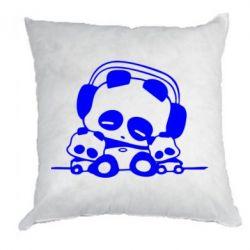 Подушка Панда в наушниках - FatLine
