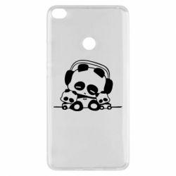 Чехол для Xiaomi Mi Max 2 Панда в наушниках