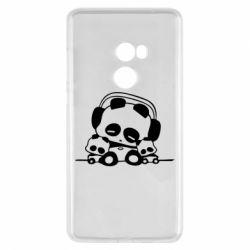 Чехол для Xiaomi Mi Mix 2 Панда в наушниках