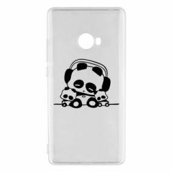 Чехол для Xiaomi Mi Note 2 Панда в наушниках