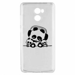 Чехол для Xiaomi Redmi 4 Панда в наушниках