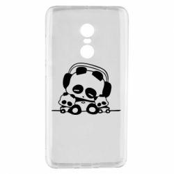 Чехол для Xiaomi Redmi Note 4 Панда в наушниках