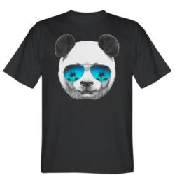 Мужская футболка Панда в очках - FatLine