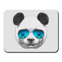 Коврик для мыши Панда в очках - FatLine