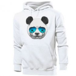 Мужская толстовка Панда в очках - FatLine
