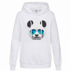 Женская толстовка Панда в очках