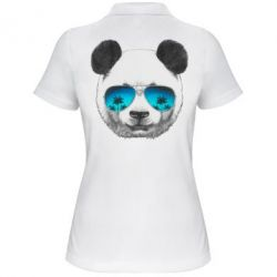 Жіноча футболка поло Панда в окулярах