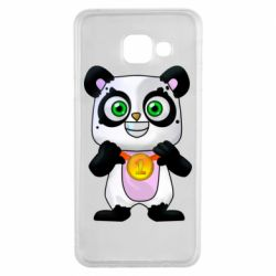 Чехол для Samsung A3 2016 Panda with a medal on his chest