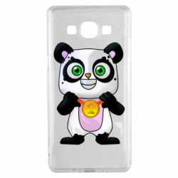 Чехол для Samsung A5 2015 Panda with a medal on his chest