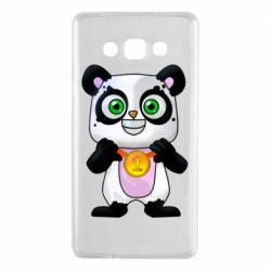 Чехол для Samsung A7 2015 Panda with a medal on his chest
