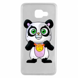 Чехол для Samsung A7 2016 Panda with a medal on his chest