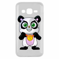 Чехол для Samsung J2 2015 Panda with a medal on his chest