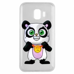 Чехол для Samsung J2 2018 Panda with a medal on his chest
