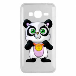 Чехол для Samsung J3 2016 Panda with a medal on his chest