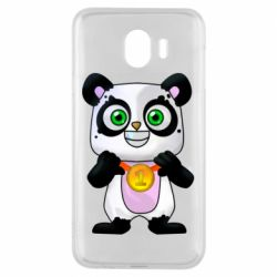 Чохол для Samsung J4 Panda with a medal on his chest