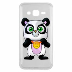 Чехол для Samsung J5 2015 Panda with a medal on his chest