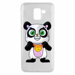 Чохол для Samsung J6 Panda with a medal on his chest