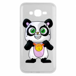 Чехол для Samsung J7 2015 Panda with a medal on his chest