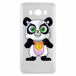 Чехол для Samsung J7 2016 Panda with a medal on his chest