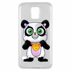 Чехол для Samsung S5 Panda with a medal on his chest