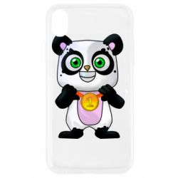 Чохол для iPhone XR Panda with a medal on his chest