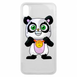 Чехол для iPhone Xs Max Panda with a medal on his chest