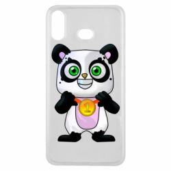 Чехол для Samsung A6s Panda with a medal on his chest