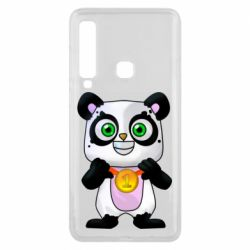 Чехол для Samsung A9 2018 Panda with a medal on his chest