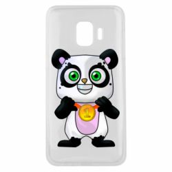 Чехол для Samsung J2 Core Panda with a medal on his chest