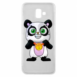 Чехол для Samsung J6 Plus 2018 Panda with a medal on his chest