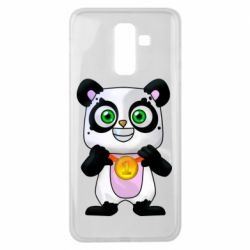 Чехол для Samsung J8 2018 Panda with a medal on his chest