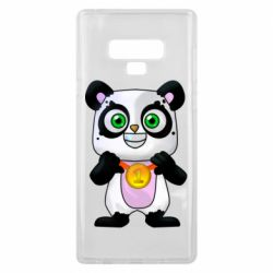 Чехол для Samsung Note 9 Panda with a medal on his chest