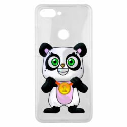 Чехол для Xiaomi Mi8 Lite Panda with a medal on his chest