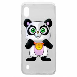 Чехол для Samsung A10 Panda with a medal on his chest