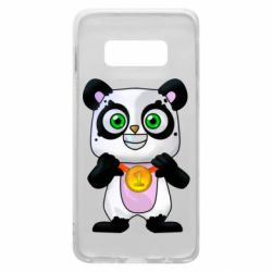Чехол для Samsung S10e Panda with a medal on his chest