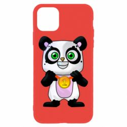 Чехол для iPhone 11 Panda with a medal on his chest