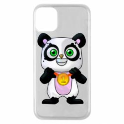 Чехол для iPhone 11 Pro Panda with a medal on his chest