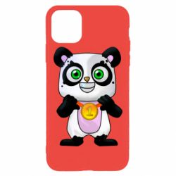 Чехол для iPhone 11 Pro Max Panda with a medal on his chest