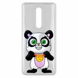 Чехол для Xiaomi Mi9T Panda with a medal on his chest