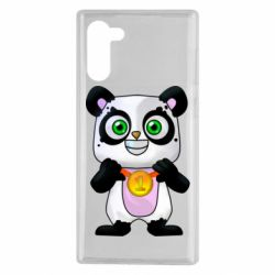 Чехол для Samsung Note 10 Panda with a medal on his chest