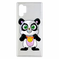 Чехол для Samsung Note 10 Plus Panda with a medal on his chest