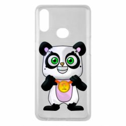 Чехол для Samsung A10s Panda with a medal on his chest