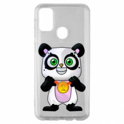 Чехол для Samsung M30s Panda with a medal on his chest