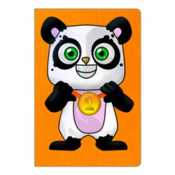 Блокнот А5 Panda with a medal on his chest