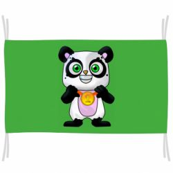 Флаг Panda with a medal on his chest