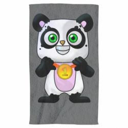 Рушник Panda with a medal on his chest