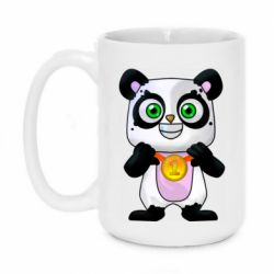 Кружка 420ml Panda with a medal on his chest