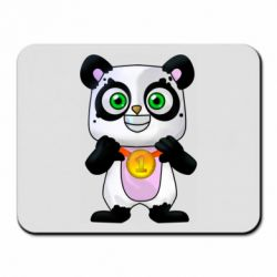 Коврик для мыши Panda with a medal on his chest
