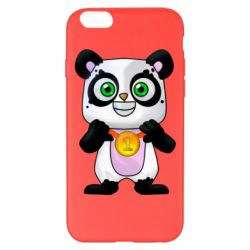 Чехол для iPhone 6 Plus/6S Plus Panda with a medal on his chest